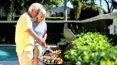 Seniors Heathy Eating - stock footage