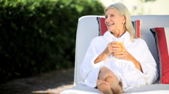 Pampering for Senior Lady Stock Footage