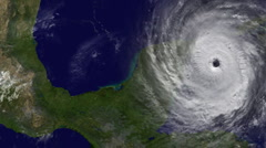 Hurricane Strikes Central America - stock footage