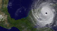 Hurricane Strikes Central America Stock Footage