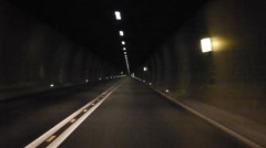 Tunnel Car Stock Footage