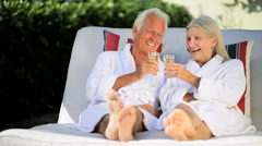 Seniors Spa Relaxation - stock footage