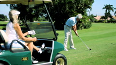 Golfing Retirement Lifestyle - stock footage