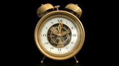 Clock on Black Stock Footage
