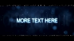 Stock After Effects of Glamour Text