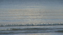 Small ripples on a calm ocean Stock Footage