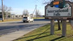International Falls, MN (HD) co Stock Footage