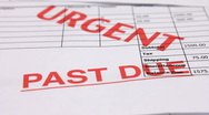 Stock Video Footage of Debt and recession.  Past due and overdue invoices for urgent payment.