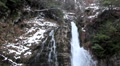Winter Scene, High Mountains, Waterfall, Winter Season HD Footage