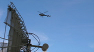 Stock Video Footage of 59 HD Helicopter flying fast over satelite dish w audio