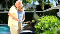 Seniors Heathy Eating - stock footage