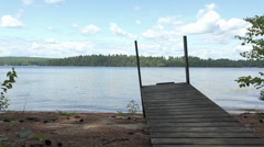 Dock on lake 2 - stock footage