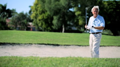 Senior Gentleman on the Golf Course Stock Footage