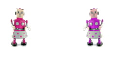 two girl robot toys Stock Footage