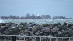 Stormy Winter Baltic Sea / Germany 3 Stock Footage