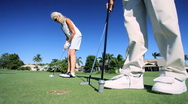 Seniors Enjoying Golf Stock Footage