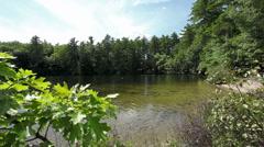 Maine lake, cove 01 - stock footage