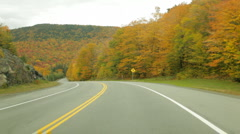 Northern New Hampshire Autumn driving Stock Footage