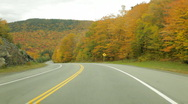 Stock Video Footage of Northern New Hampshire Autumn driving