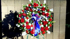 Memorial Wreath Stock Footage