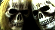 "Stock Video Footage of Spooky ""Voodoo"" Skulls"