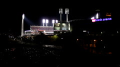 Reds Stadium during Baseball playoffs Stock Footage