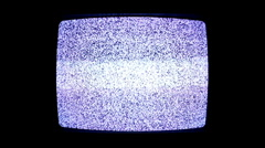 Static on TV screen turned off Stock Footage
