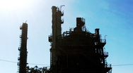 Stock Video Footage of Oil Petroleum Refining Tower 3