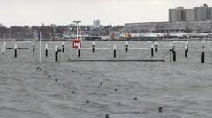 Winter Storm Baltic Sea / Kiel / Germany 4 Stock Footage