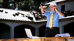 Architect Using Cell Phone Stock Footage