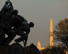 Iwo Jima Memorial 01 PAL Stock Footage
