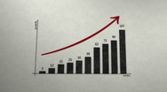 PAPER CHART PROFIT ARROW Stock Footage