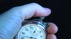 stop-watch in hand - stock footage