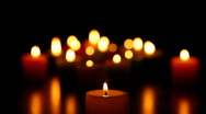 Candles burning for love  2 HD 1080p Stock Footage