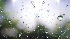 Beautiful rain drops frozen in time. Loopable Stock Footage