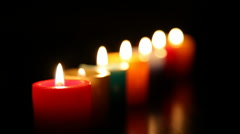 Candles burning for love  1 HD 1080p Stock Footage