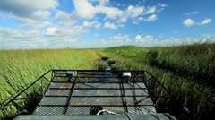 Airboat in Florida Everglades Stock Footage