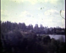 from the train window - stock footage