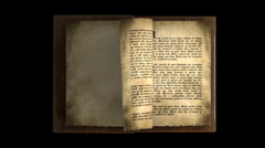 OLD BOOK WITH TEXT PAGES Stock Footage