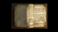 Stock Video Footage of OLD BOOK WITH TEXT PAGES