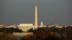 Washington DC Skyline 02 HD - stock footage