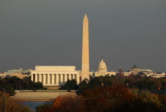 Washington DC Chopper Skyline 03 NTSC Stock Footage