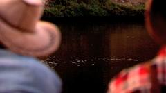 Swimming Ducks  Stock Footage