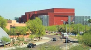 ASU Timelapse daytime busy intersection road of people cars pedestrians Stock Footage