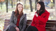 Stock Video Footage of Two girls talking at the park