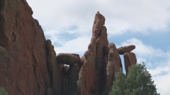 Rock formations in Garden of the Gods Stock Footage