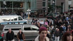 SF busy shoppers Stock Footage