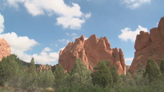 Garden of the Gods cloud shadows timelapse - stock footage