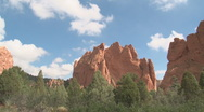Stock Video Footage of Garden of the Gods cloud shadows timelapse