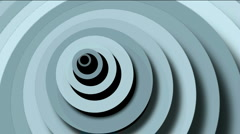 Abstract circle ring rounds 3d tunnel hole,3d paper ripples cards wave space. Stock Footage